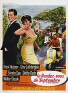 Come September - Belgian Movie Poster (xs thumbnail)