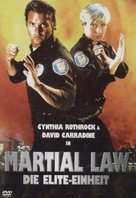 Martial Law - German DVD cover (xs thumbnail)