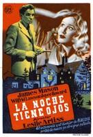 The Night Has Eyes - Spanish Movie Poster (xs thumbnail)