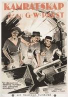 Kameradschaft - Swedish Movie Poster (xs thumbnail)