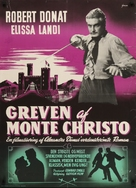 The Count of Monte Cristo - Danish Movie Poster (xs thumbnail)