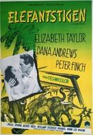 Elephant Walk - Swedish Movie Poster (xs thumbnail)