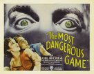 The Dangerous Game - British Movie Poster (xs thumbnail)