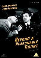 Beyond a Reasonable Doubt - British DVD cover (xs thumbnail)