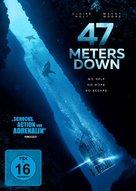 47 Meters Down - German DVD movie cover (xs thumbnail)