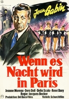Touchez pas au grisbi - German Movie Poster (xs thumbnail)
