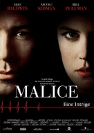 Malice - German Movie Poster (xs thumbnail)