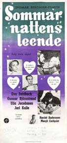 Sommarnattens leende - Swedish Movie Poster (xs thumbnail)