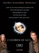 Children of Men - Danish Movie Poster (xs thumbnail)