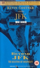 JFK - British VHS movie cover (xs thumbnail)