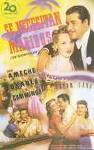 Moon Over Miami - Spanish Movie Poster (xs thumbnail)