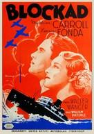 Blockade - Swedish Movie Poster (xs thumbnail)