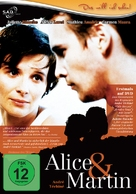 Alice et Martin - German DVD movie cover (xs thumbnail)