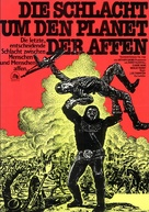 Battle for the Planet of the Apes - German Movie Poster (xs thumbnail)
