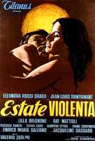 Estate violenta - Italian Movie Poster (xs thumbnail)