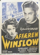 The Winslow Boy - Danish Movie Poster (xs thumbnail)