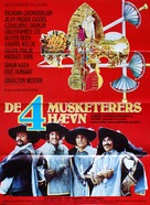 The Four Musketeers - Danish Movie Poster (xs thumbnail)