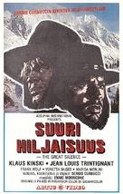 Il grande silenzio - Finnish VHS movie cover (xs thumbnail)