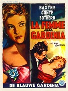 The Blue Gardenia - Belgian Movie Poster (xs thumbnail)