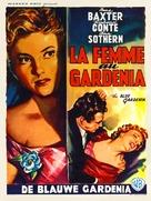 The Blue Gardenia - Belgian Movie Poster (xs thumbnail)
