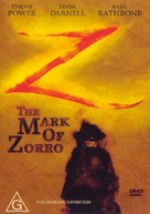 The Mark of Zorro - Australian DVD cover (xs thumbnail)