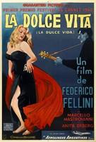 La dolce vita - Argentinian Theatrical poster (xs thumbnail)