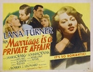Marriage Is a Private Affair - British Movie Poster (xs thumbnail)