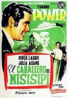 The Mississippi Gambler - Spanish Movie Poster (xs thumbnail)