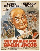 Les aventures de Rabbi Jacob - Danish Movie Poster (xs thumbnail)