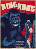 King Kong - Danish Movie Poster (xs thumbnail)
