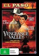Vengeance Valley - Australian DVD cover (xs thumbnail)