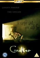 Coraline - British DVD movie cover (xs thumbnail)