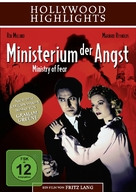 Ministry of Fear - German DVD cover (xs thumbnail)