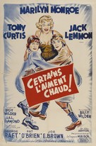 Some Like It Hot - French Movie Poster (xs thumbnail)