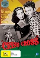 Criss Cross - Australian DVD cover (xs thumbnail)