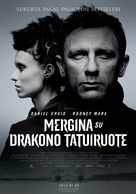 The Girl with the Dragon Tattoo - Lithuanian Movie Poster (xs thumbnail)