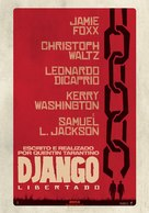 Django Unchained - Portuguese Movie Poster (xs thumbnail)