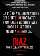 Diaz: Don't Clean Up This Blood - Italian Movie Poster (xs thumbnail)