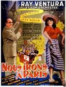 Nous irons à Paris - Belgian Movie Poster (xs thumbnail)