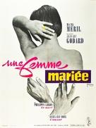Une femme mariée: Suite de fragments d'un film tourné en 1964 - French Movie Poster (xs thumbnail)