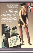 Die ehe der Maria Braun - Finnish VHS movie cover (xs thumbnail)