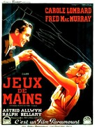 Hands Across the Table - French Movie Poster (xs thumbnail)