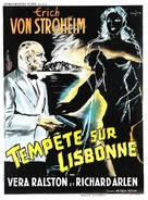 Storm Over Lisbon - French Movie Poster (xs thumbnail)