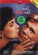 He Said, She Said - Australian DVD cover (xs thumbnail)