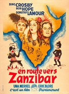 Road to Zanzibar - French Re-release movie poster (xs thumbnail)