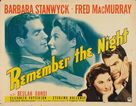 Remember the Night - Movie Poster (xs thumbnail)