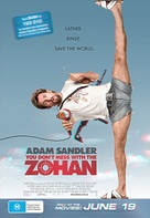 You Don't Mess with the Zohan - Australian Movie Poster (xs thumbnail)