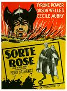 The Black Rose - Danish Movie Poster (xs thumbnail)