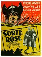 The Black Rose - Danish Movie Poster (xs thumbnail)