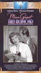 Miss Grant Takes Richmond - VHS cover (xs thumbnail)